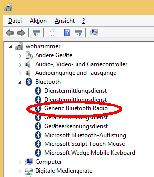 """Generic Bluetooth Radio"" entry in Windows' Device manager"